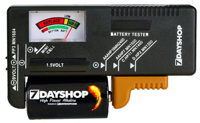 7dayShop Small Sized Battery Tester AA