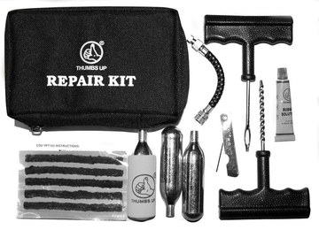 Puncture Repair Kit For Cars With Black Transport Bag