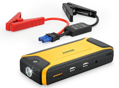 Small Car Jump Starter In Black And Yellow Exterior