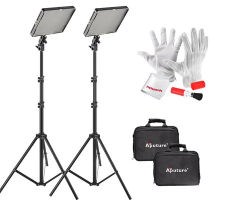 Aputure Amaran AL-528W DIY Photo Lighting Kit With White Gloves