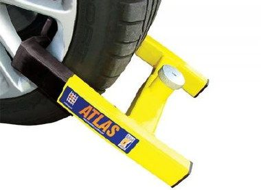 Atlas Auto Lock Motorhome Wheel Clamp In Bright Yellow