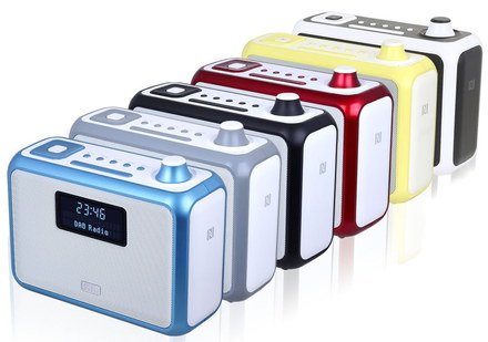 Bluetooth DAB/+ Alarm Radios In Several Colours