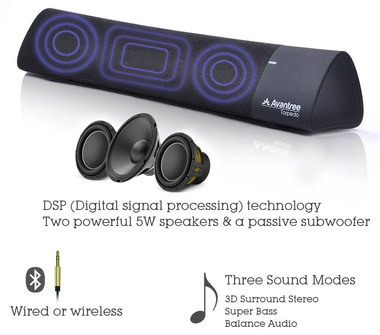 Wireless Bluetooth Speakers In Black And Blue
