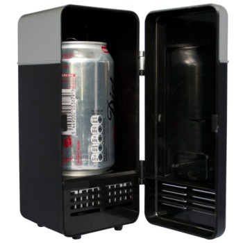 USB Drink Cooler For PC In Black Exterior