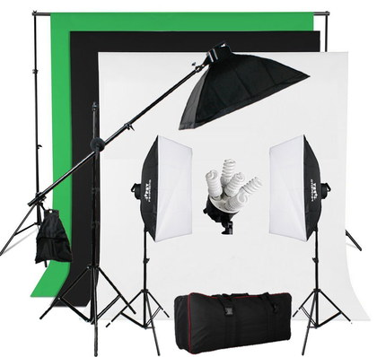 BPS 950W Softbox Continuous Lighting Photography Kit With Black Bag