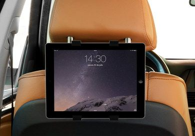 Entertainment iPad Car Headrest Mount Attached To Upright