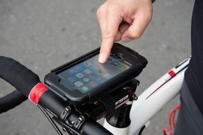 iPhone Phone Holder For Bikes Beside Man