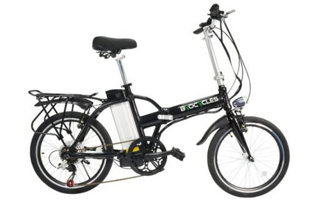 Folding Electric Cycle With Soft Black Seat