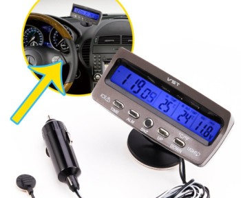 Car Alarm Temperature LED Thermometer