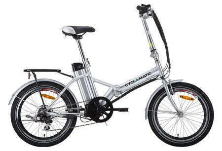 e-Bike Folding Electric Bicycle With Chrome Frame