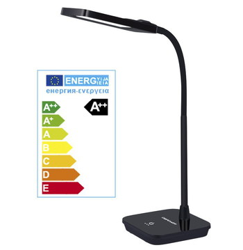 LED 6W Gooseneck Reading Light With Sturdy Black Base