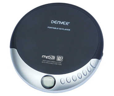 Denver DMP-389 Mobile CD Player In Dark Blue