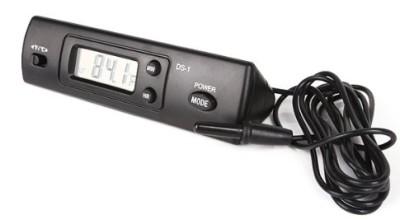 Indoor Outdoor Thermometer In Black Finish
