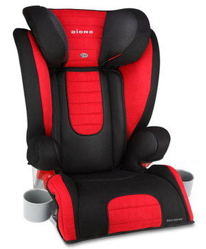 Expansive Child Booster Car Seat In Black And Red
