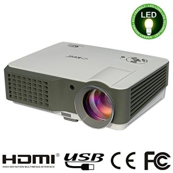 HD Projector Showing Bulb