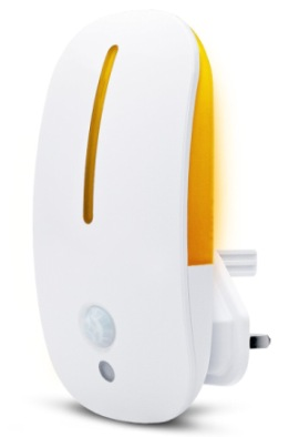 Motion Sensor LED Nightlight In White And Orange
