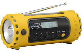 TUF Hand Crank Phone Charger Radio In Yellow Finish