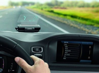 Wireless Head Up Display Navigation With Directions On Windscreen
