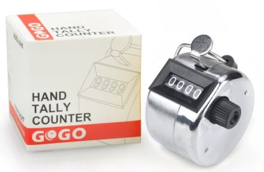 Gogo Mechanical Hand Tally Counter With Black Screen