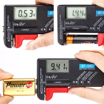HDE Universal AA AAA Battery Tester Examining All Sizes