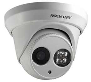 Dome IP Camera In White Casing