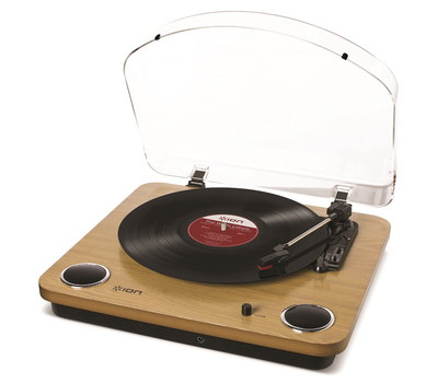 USB Record Player In Wood Finish
