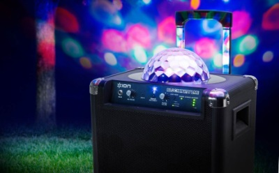 Portable Karaoke Machine With Blue Lights