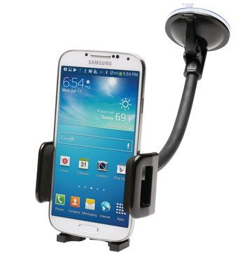 Dashboard Phone Holder With White Smartphone