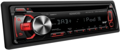 CD USB DAB+ In Car Radio In Black With Red Light