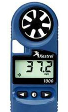 Anemometer In Dark Blue Exterior