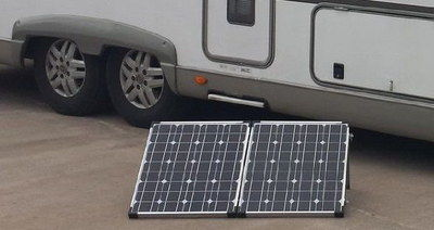 Fold-Up Motorhome Solar Panel Kit In Black And Chrome