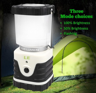 LE Camping LED Lantern In Black And White Casing