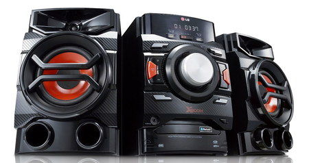 X-Boom RMS Mini Sound System In Black And Red