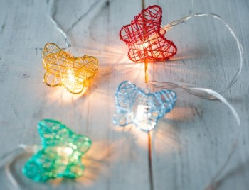 LED Multi Coloured Fairy Lights In Red And Yellow