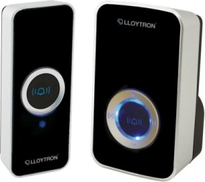 Lloytron B7505BK Plug Through Wireless Doorbell In Black Finish