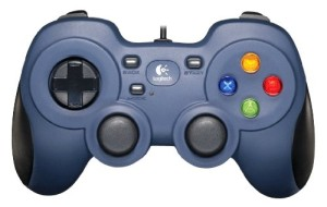 Logitech F310 Gamepad In Black And Blue Exterior