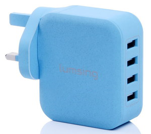 Lumsing Cube Connect USB To iPad Adapter In Light Blue