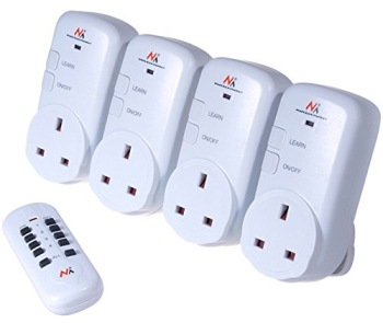 Controlled Socket With White Remote Device