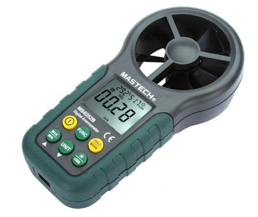 Meter Anemometer With Green Buttons