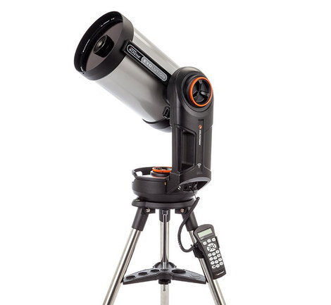 NexStar Celestron Made Evolution 8 Telescope In Chrome Exterior