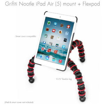Nootle Tripod Holder For iPad AIR With 3 Bending Legs