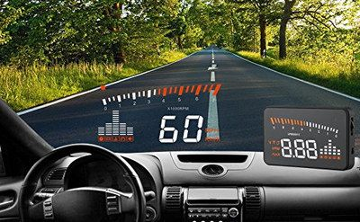Multi-Colour Universal Car Heads Up Display With White Speed View