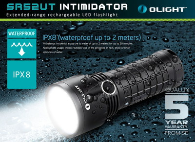 1100 Lumens High Power LED Torch With Water