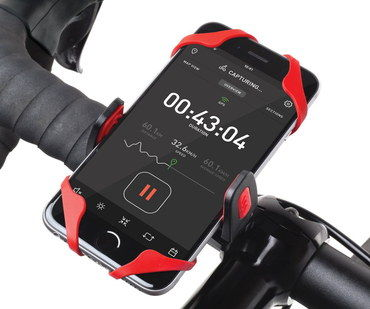 Handy Handlebar Phone Mount In Red Plastic