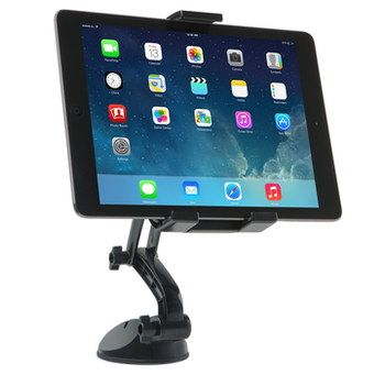 Flexible Arm Tablet Dash Mount No Vibration With Black Base