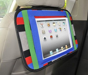 Sturdy Tablet PC Car Headrest Mount On White Seat