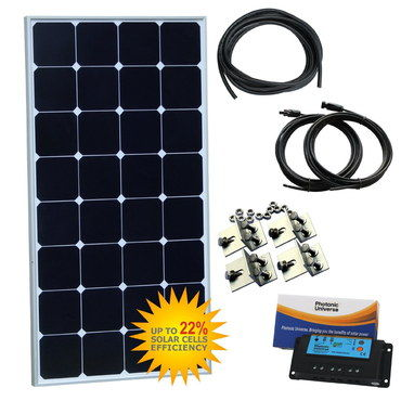 100W 12V Mobilehome Solar Panel Kit With Metal Brackets