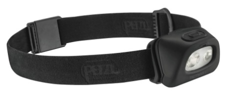 Petzl Tactikka LED Head Torch For Camping In All Black
