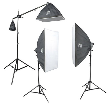 PhotoGeeks LightSuper Studio Lighting Kit In Lightweight Metal