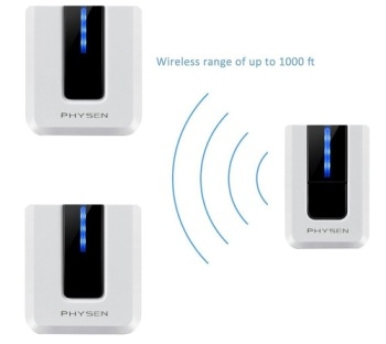 Physen Plug-In Long Range Wireless Doorbell Showing Wi-Fi Range